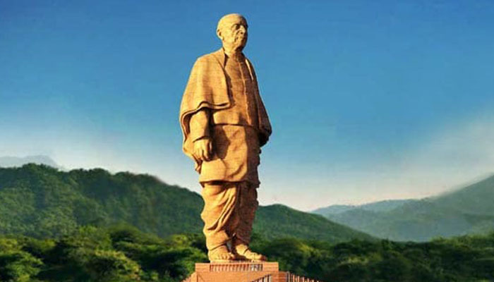 Posters depicting PM Modi, Statue of Unity torn, blackened
