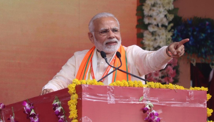 Modi takes dig at Congress, says people are tired of false promises
