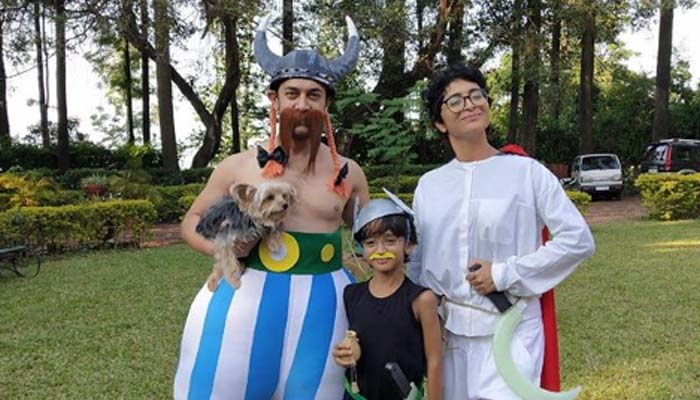 Aamir Khan with family turns in Asterix character; pics go viral