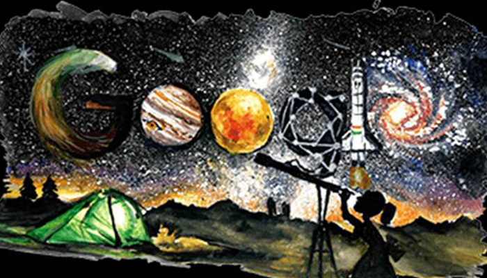 Google doodle celebrates Childrens Day with the theme space exploration