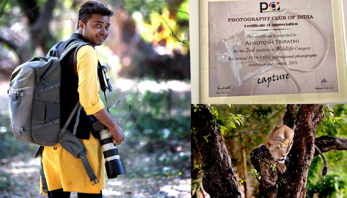 Ashutosh Tripathi wins 2nd prize at International Photography Exhibition and Contest
