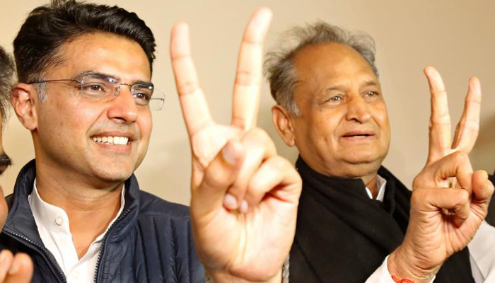 Ashok Gehlot announced as the Chief Minister of Rajasthan