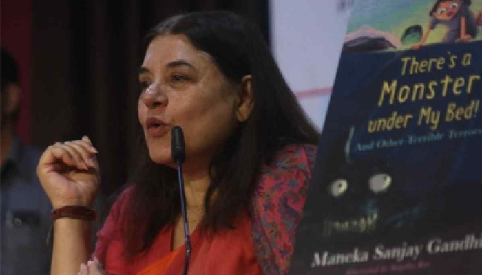 Union Minister Maneka Gandhi unveils cover of her upcoming book
