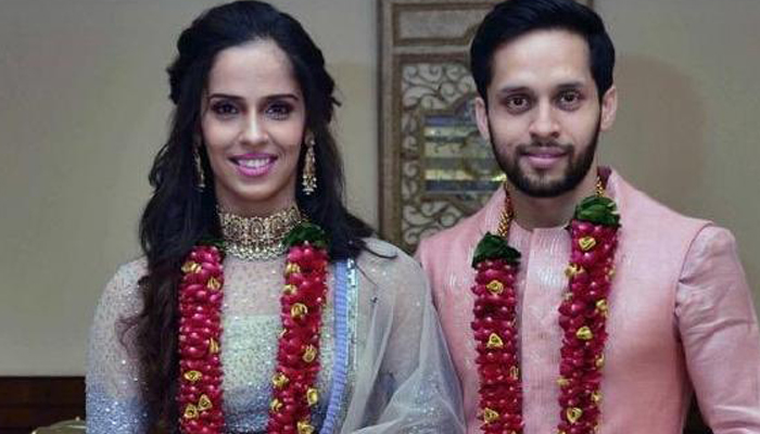 Saina Nehwal got hitched with Parupalli Kashyap, to host reception on December 16